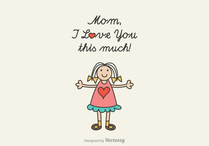 Free Mom I Love You Vector Illustration