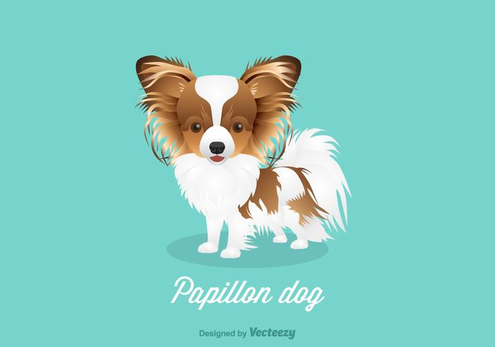 Vector Papillon Dog