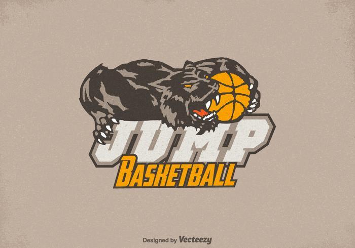 Vector de logo de basket-ball de miel de miel gratuit