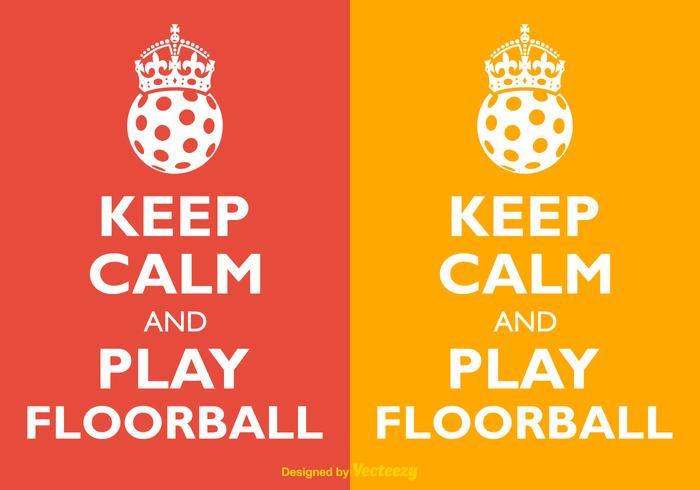 Vector Keep Calm And Play Floorball