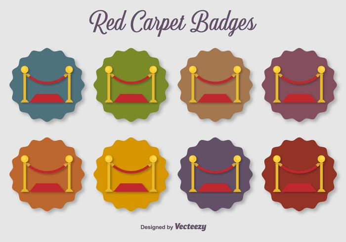 Velvet Rope Vector Flat Color Vector Ikoner
