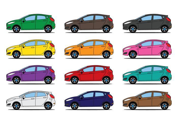 Ford Fiesta Illustration vector