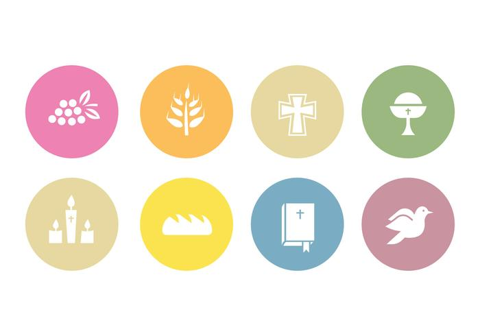 Comunión iconos vectoriales