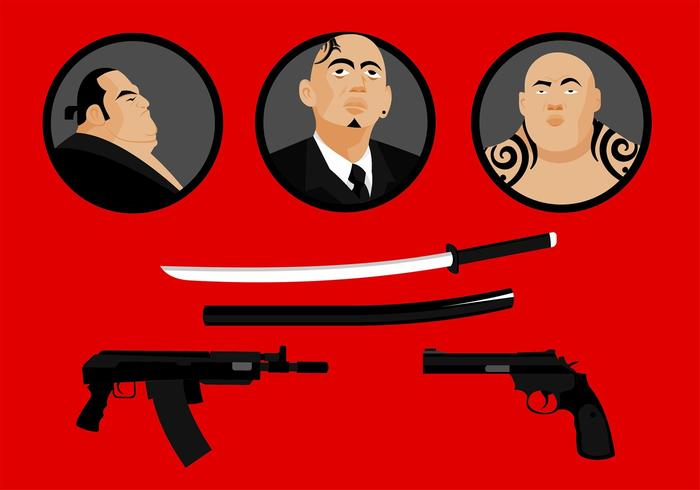 yakuza free vector