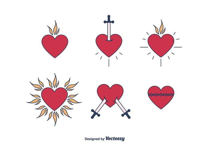sacred heart free vector art 4183 free downloads