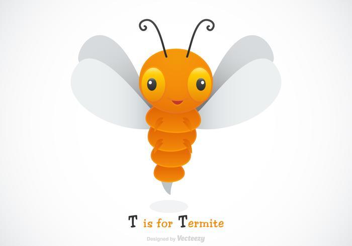 Free Vector Cartoon Termite Illustration