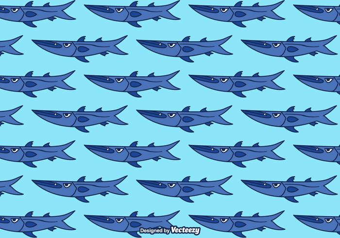 Cartoon Barracuda Vector Background