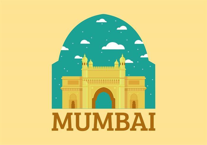 Vecteur sans fil Landmark de Mumbai