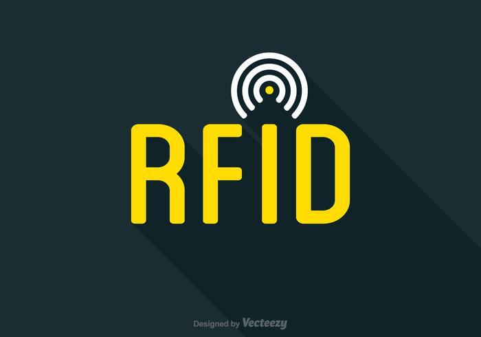 Icône de balise RFID à vecteur libre