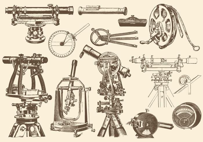 Sepia Precision instruments vector