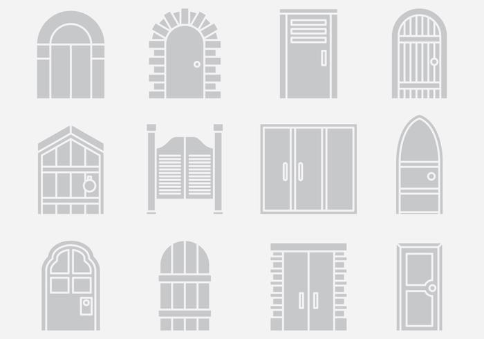 Gray Door Portal Vectors