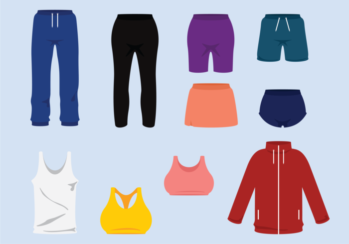 Tracksuit and Sweatpants Vectors