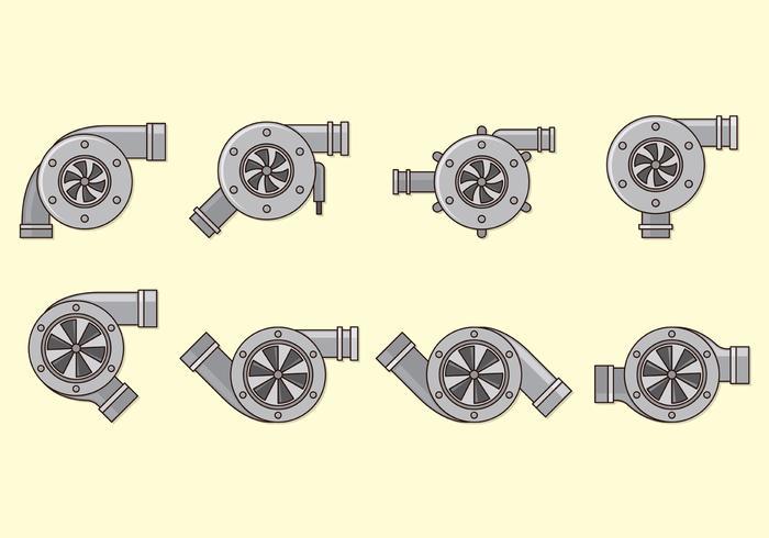 Set Of Turbocharger Vectors