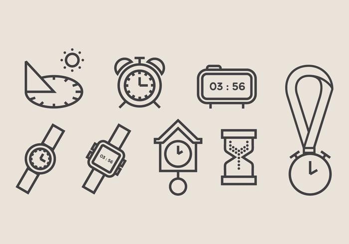 Sun Dial and Clock Vector Icon