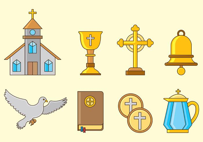 Set Of Comunion Icons