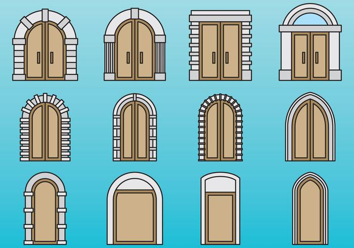 Cute Doors And Portals vector