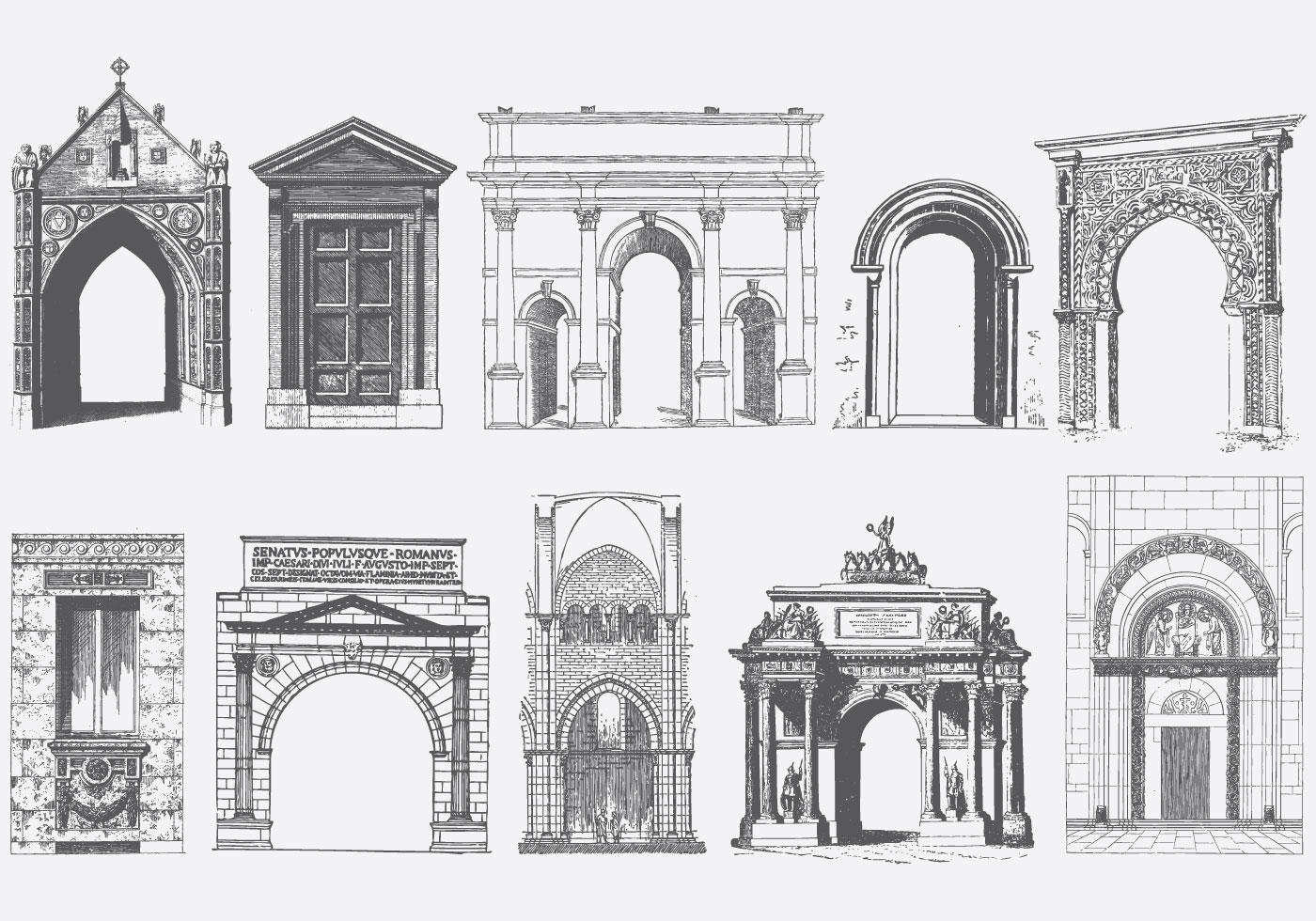 Gray Doors Portals And Archs Download Free Vectors