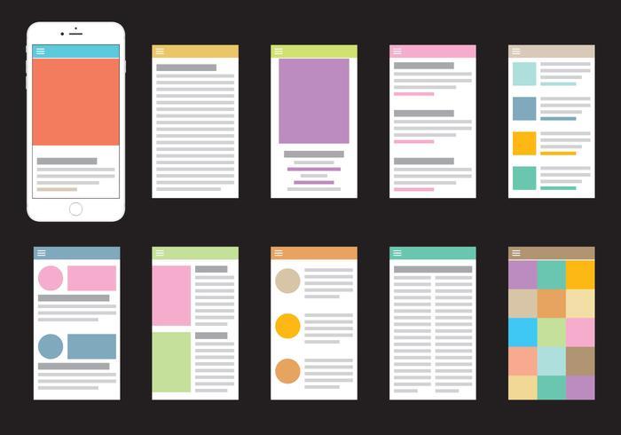 Ícones do portal móvel