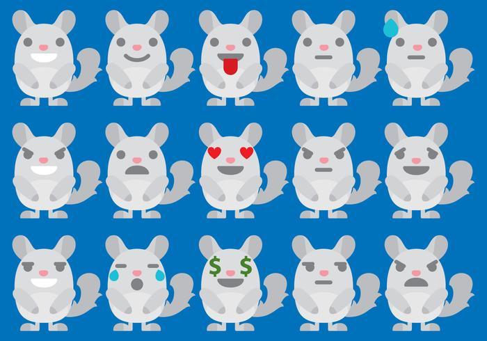 Chinchilla Emoticones vector