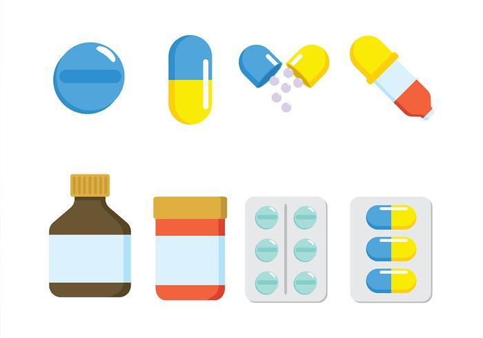 Vecteur boîte à pilules