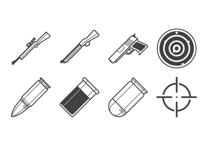Free Fire Arms Icon Vector
