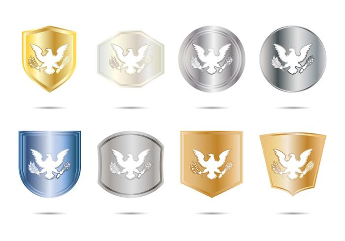 Gratis Presidential Seal Badge Vector