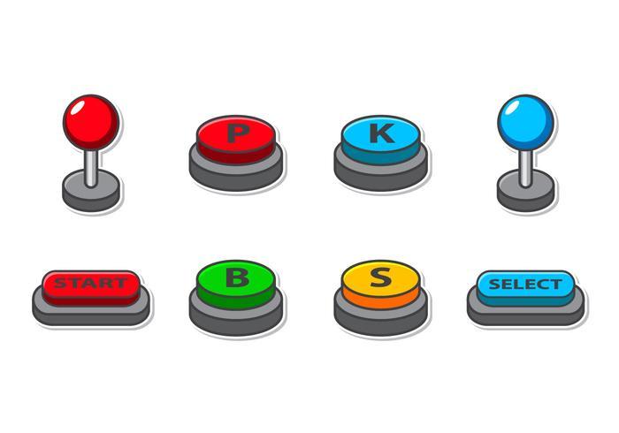 Free Arcade Button Icon Vector