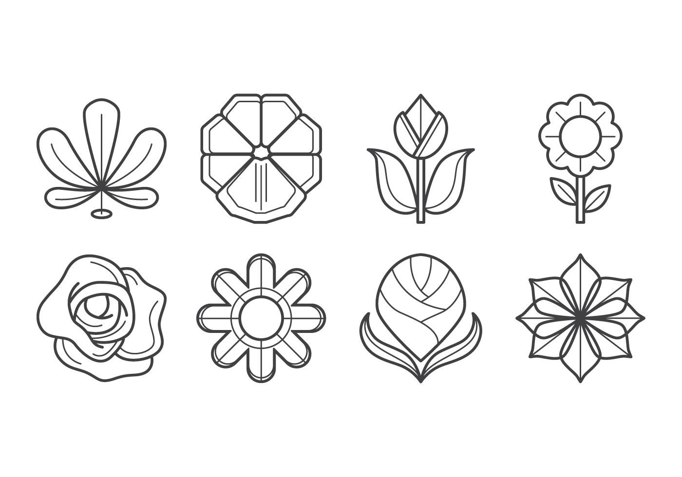 Flower Icon Vector Download Free Vector Art Stock