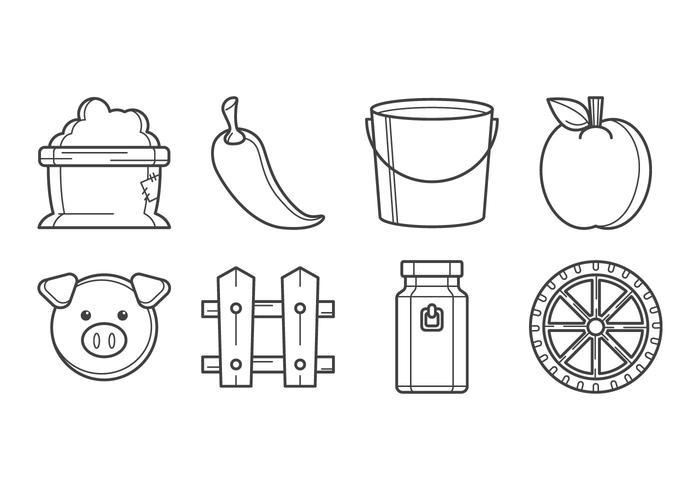 Vector d'icônes agricoles gratuites