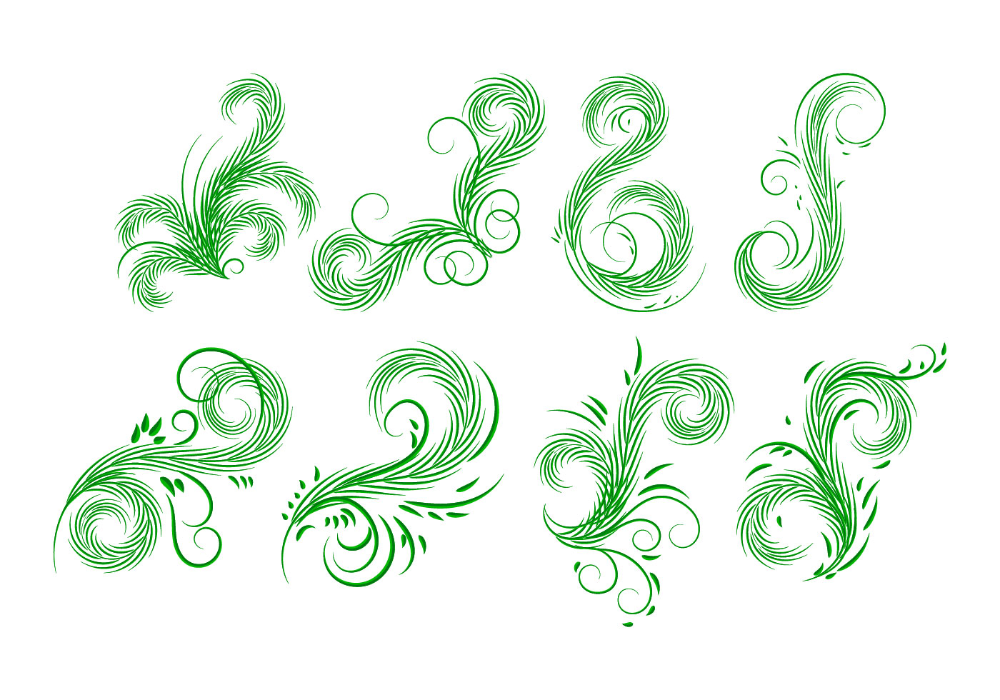 Palm Leaves Elements Vector - Download Free Vector Art, Stock ...