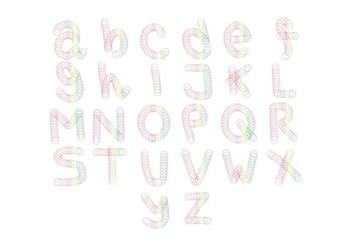 Free Slinky Alphabet Vector