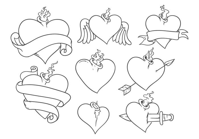 Free Sacred Heart Tattoo Vector