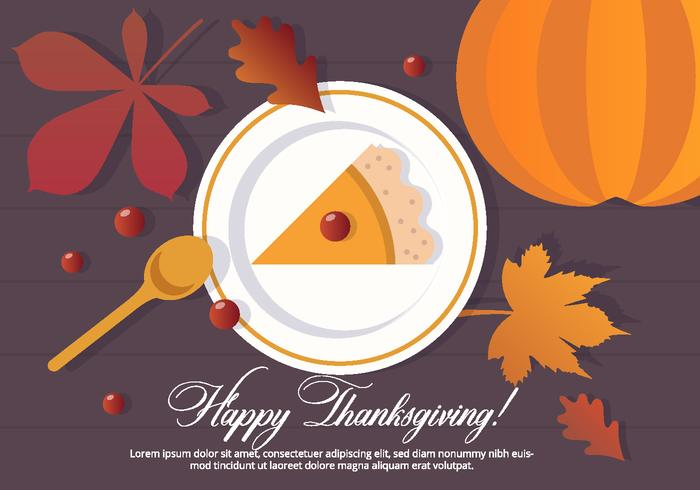 Thanksgiving vector dessert