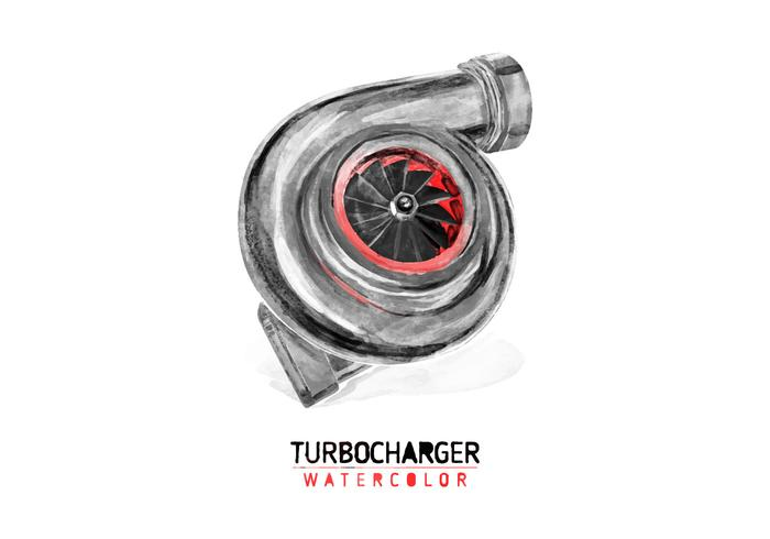 Turbocharger libre Acuarela Vector