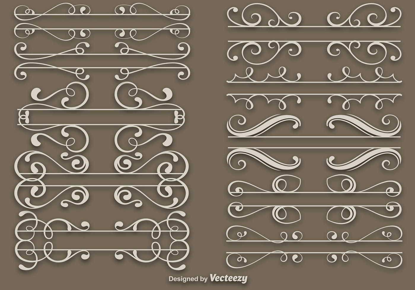 elegant dividers vector set download free vector art