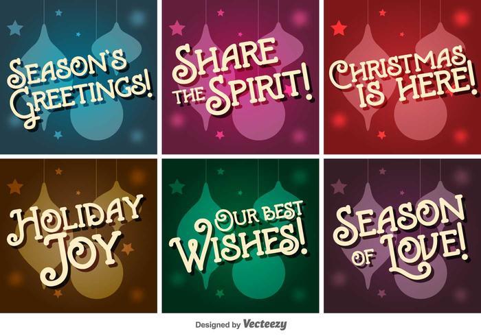 Retro Christmas Vector Letterings