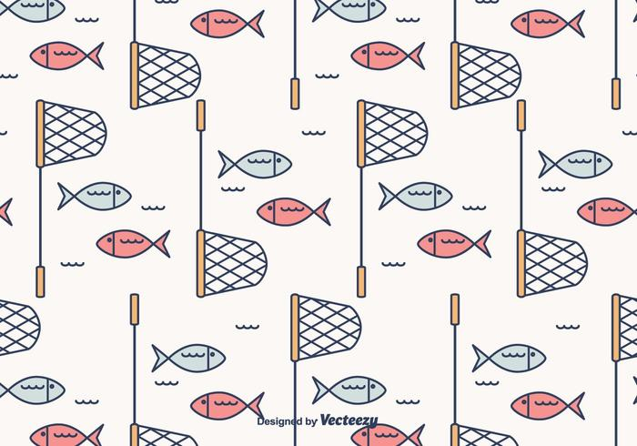 Fish Net Vector Pattern