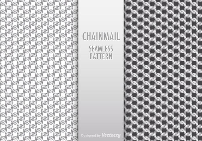 Free Chainmail Seamless Pattern Vector