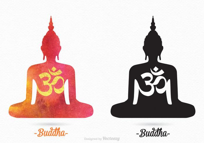 Libre de vectores siluetas de Buda