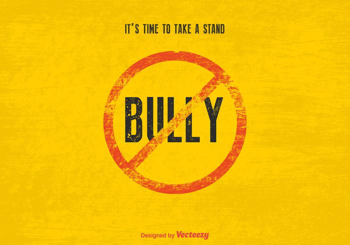 Free Vector Stop Bully Sign
