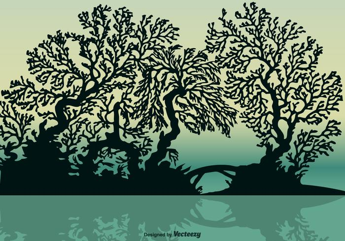 Vector Free Mangrove Silhouette