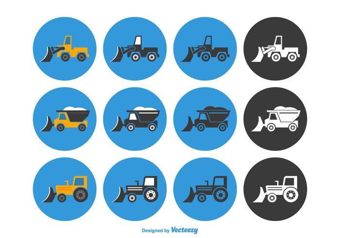 Free Snow Plough Conjunto de ícones de vetores