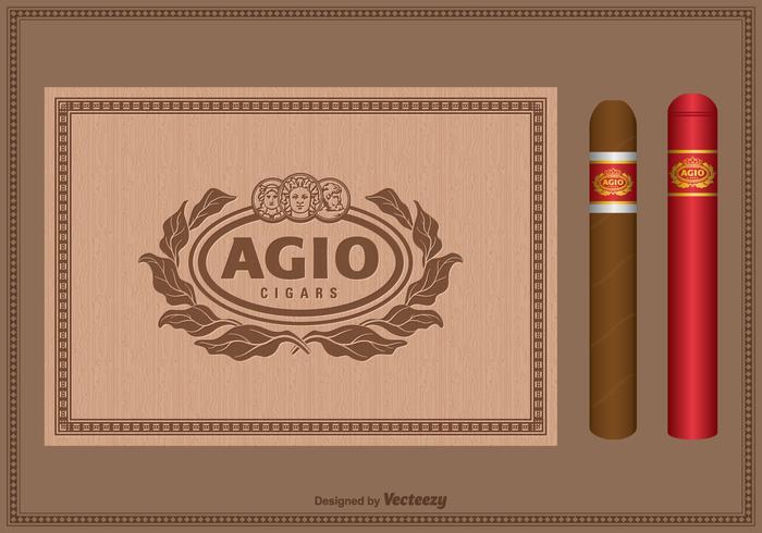 Conjunto de etiqueta libre de vinilo Vintage Cigar