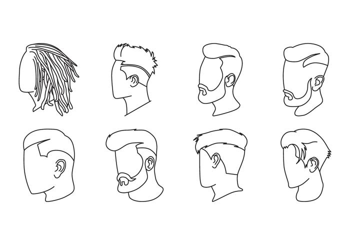 Gratis Men Hairstyle Icon Vector