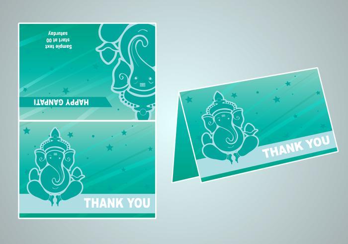 Invitation vectorielle de ganpati heureux