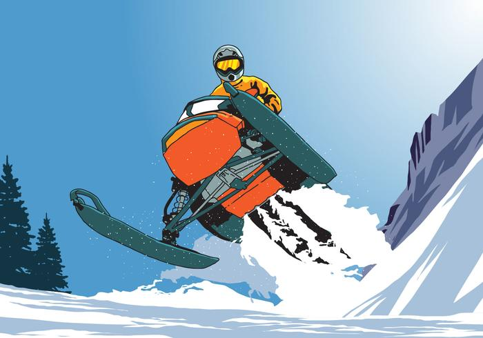 Montar a caballo de moto de nieve