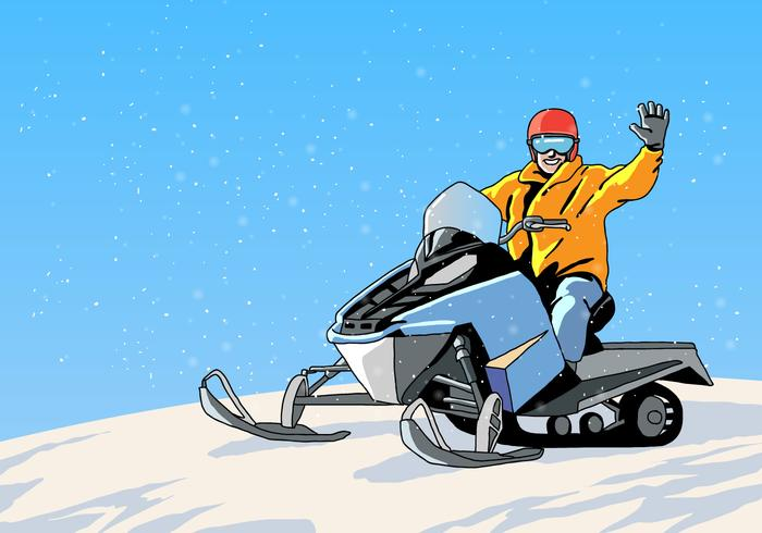 Vetor de turnê de snowmobile