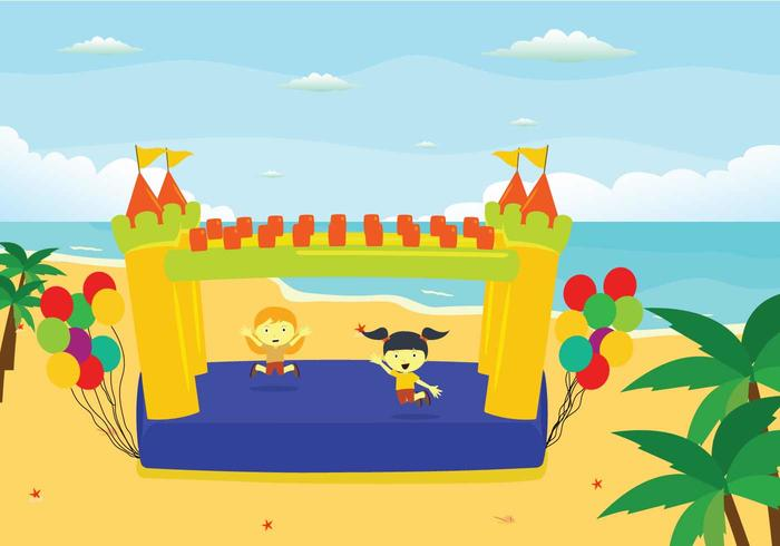 Gratis Bounce House Illustratie vector