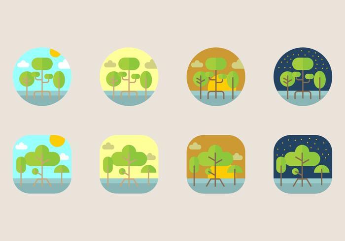 Mangrove ikon vektor