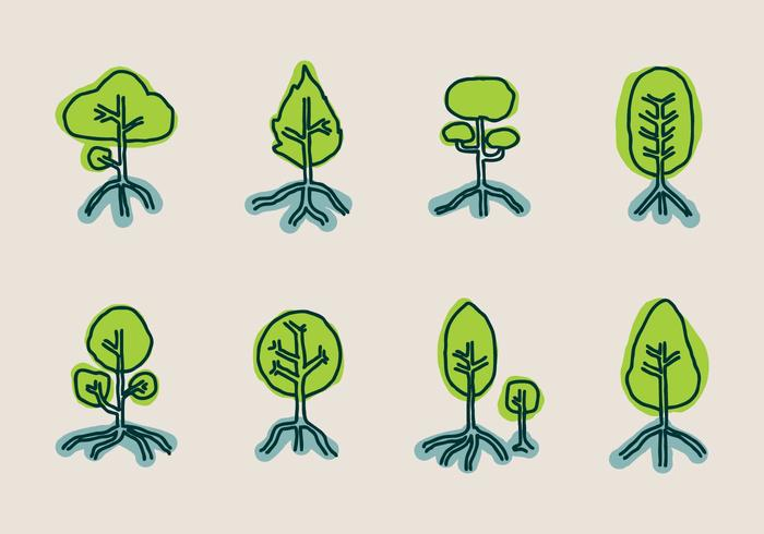 Mangrove Vector Icon